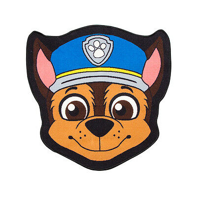Official Paw Patrol Chase Head Shaped Rug Bedroom Floor Mat