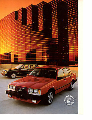 1989 Volvo 740 Gle  ~  Nice 4-Page Original Road Test / Article / Ad