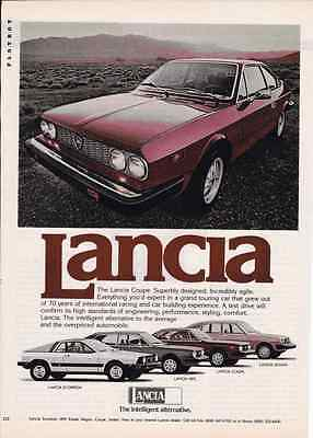 1977 Lancia Coupe  ~  Great Original Print Ad
