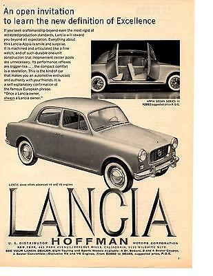 1960 Lancia Appia Sedan Series Iii  ~  Clasic Original Print Ad