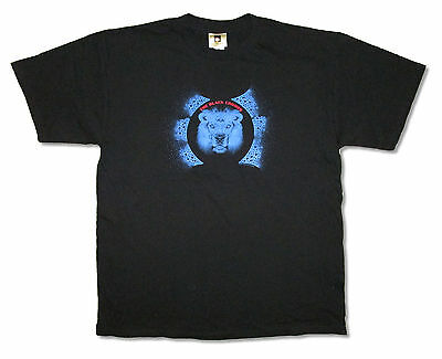 Black Crowes Blue 3 Eyed Lion Black T-Shirt Xl New Official