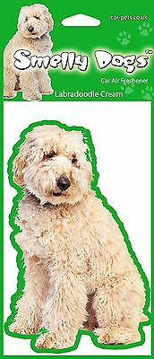 2 x Labradoodle Cream Fragrant Air Fresheners - Perfect Gift