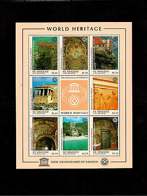ST. VINCENT & THE GRENADINES 1997 #2392 MINI SHEET VF NH UNESCO 50th ANNIV.