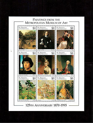 ST. VINCENT & THE GRENADINES 1996 #2263a/il MINI SHEET VF NH METROPOLITAN MUSEUM