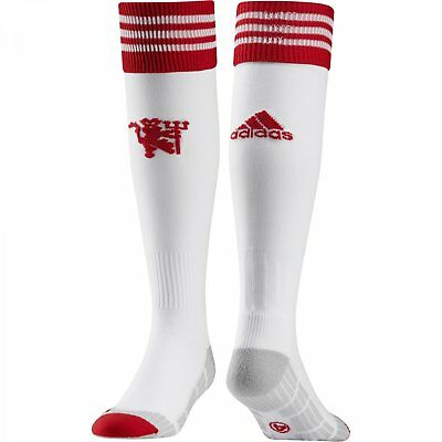 adidas Boy's Manchester United FC Home Football Socks MUFC White CLEARANCE!
