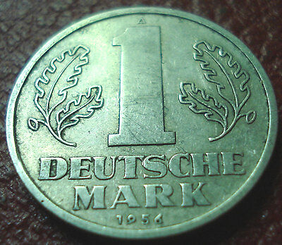1956-A East Germany 1 Mark In Vf Condition