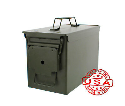Battle Steel Tactical .50 Cal Metal American Made Military GI Ammo Can M2A1