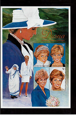 ST. VINCENT & THE GRENADINES 1997 #2496a/d MINI SHEET VF NH PRINCESS DIANA !!