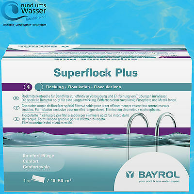 Bayrol Superflock Plus 1kg Flock Mittel Kartusche Flockung Sandfilter Pool