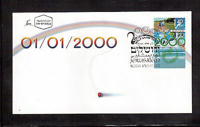Israel 2000 First Day Cover, Millennium, Scott # 1385 !!
