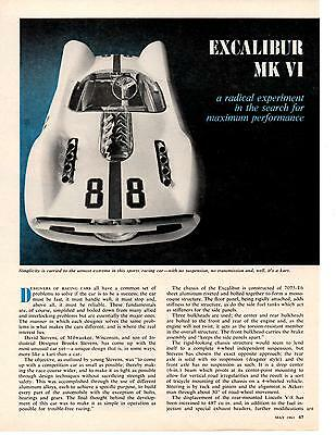 1963 Excalibur Mk Vi  ~  Great 3-Page Article / Ad