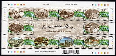 SINGAPORE MNH 2000 SG1045-54 A Century on Singapore River