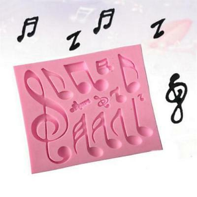 Music Note Silicone Mould Fondant Mat Decorating Bar Cake Mold Kitchen Tool - CB