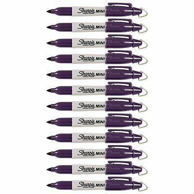 Sharpie Mini Permanent Marker, Fine Point, Valley Girl Violet, Pack of 12