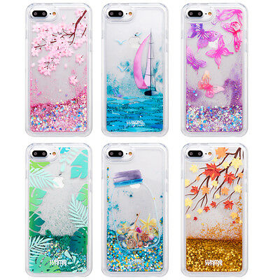 Dynamic Liquid Glitter Quicksand Hard Phone Case Cover For iPhone 6 6s 7 7 Plus