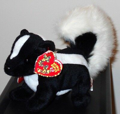 NMT* Ty Beanie Baby BB 2.0 ~ SKUNKERS the Skunk~ MINT with NEAR MINT TAG