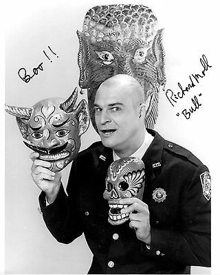 Richard Moll signed 8x10 Night Court photo / autograph