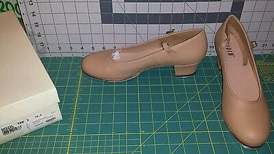 NWT Bloch S0323L Showtapper Leather Tap Dance Shoes in TAN Adult 10.5M