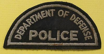 Vintage Obsolete Patch DEPARTMENT of DEFENSE POLICE World War Two WWll