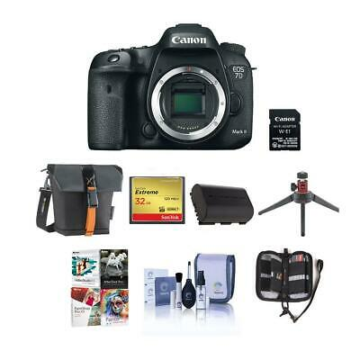 Canon EOS 7D Mark II DSLR Camera Body with WiFi Adapter Kit W/Free Pc Acc Bundle