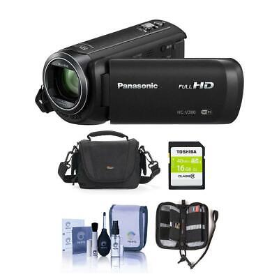 Panasonic HC-V380K Full HD Camcorder with Wi-Fi - Free Accessory Bundle