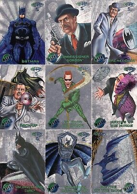 Batman Forever Metal 1995 Partial Parallel Silver Flasher Card Set 86/100 Dc