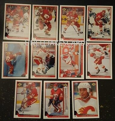 1993-94 UPPER DECK CALGARY FLAMES Select from LIST SERIES 2 HOCKEY CARDS