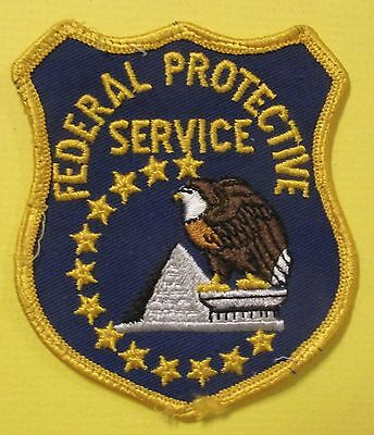 Vintage Obsolete Patch FEDERAL PROTECTIVE SERVICE Bald Eagle Shield Pyramid