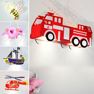 Children Ceilings Pendulum Lights Helicopter Pirate Ship Bee WAGON FIRE BRIGADE