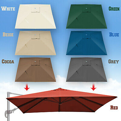 REPLACEMENT CANOPY FOR 10'x10' ROMA Cantilever Patio Umbrella Cover Parasol  Top