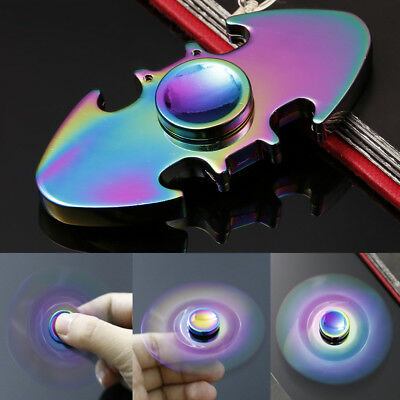 Glow In The Dark Hand Finger Spinner Tri Fidget Spiral Stress Funny Toy