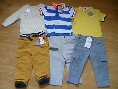 BNWT Boys Mainly NEXT Bundle 6 Items Jeans Jumper & Polo Shirts 12-18 Months