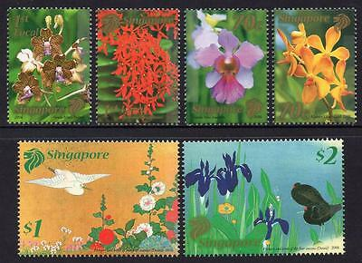 SINGAPORE MNH 2006 Flowers Joint Issue