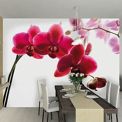 ORCHID FLOWER WALLPAPER WALL MURAL 2.32m x 3.15m NEW ROOM DECOR