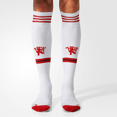 adidas Men's & Boy's Manchester United FC Away Football Socks MUFC White