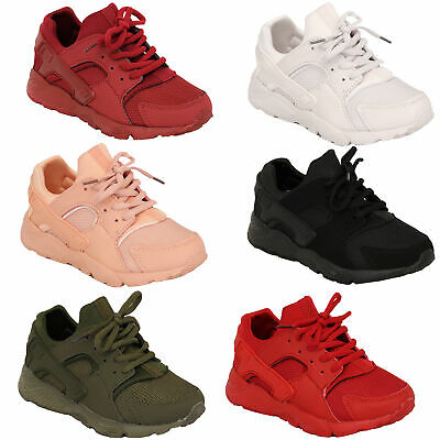 Boys Trainers Kids Lace Up Running Toddlers Shoes Mesh Jogging Gym Sports New