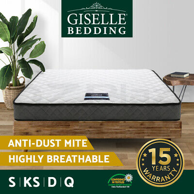 QUEEN KING SINGLE DOUBLE Mattress Bed Size Bonnell Spring Firm Foam Top 16CM