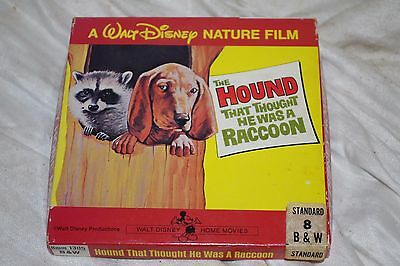 Walt Disney Nature Film Hound That Thought He Was A Raccoon B&W Movie Super 8