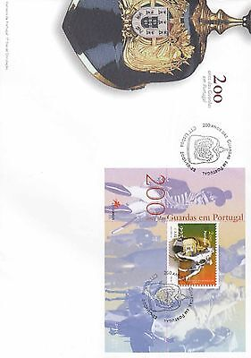 86.450/ Portugal Block FDC  2001 Helm Guarde