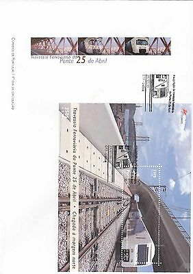86.451/ Portugal Block FDC  1999 Zug Train