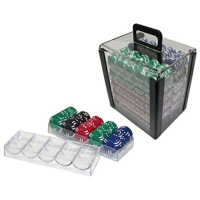 1000 Chip Capacity Clear Carrier Includes 10 Chip Trays