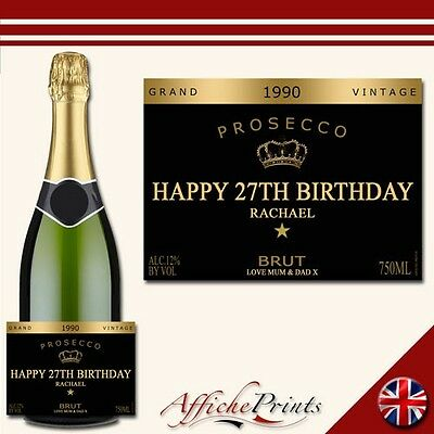L9 Personalised Prosecco Brut Bottle Label Grand - Perfect Gift Any Occasion!