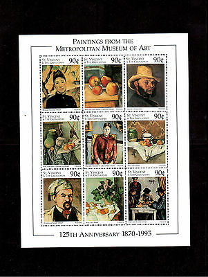 ST. VINCENT & THE GRENADINES 1996 #2262a/il MINI SHEET VF NH METROPOLITAN MUSEUM