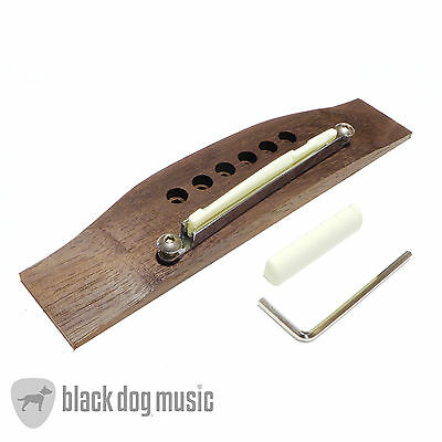 Adjustable Rosewood acoustic / classical guitar bridge saddle and nut set