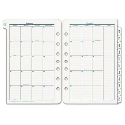 Franklin Covey Original Classic Monthly Tab - Julian - Monthly - 1 Year -