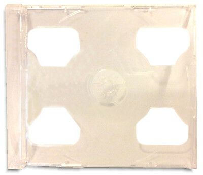 300-Pak Case of CLEAR 2CD Double Jewel Case =SMART TRAYS= Clearance!