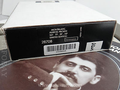 Sealed Montblanc Writers Limited Edition Marcel Proust Set (Fp+Bp+Mp) 0045/4000