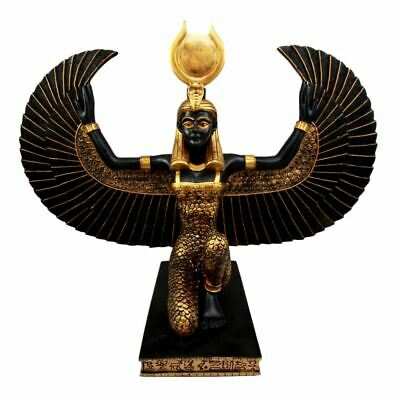 "Large Winged Isis Statue 20""Long Egyptian Goddess Of Motherhood Ancient Egypt"