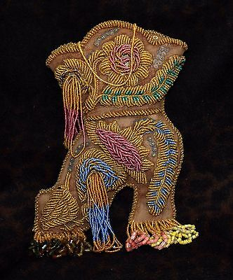 """Large & Exceptional Iroquois or Mohawk Whimsey Boot Pin-Cushion 12""""h x 7.5""""w"""