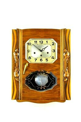 Gorgeous French Art Deco Westminster Chime Wall Clock approx.1930, 2 Melodies !!